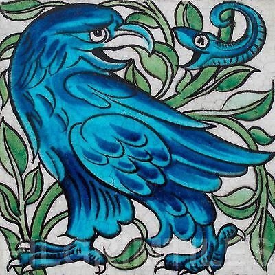 Metric Porcelain Tile William De Morgan Eagle Snake Wall Floor Kitchen Bath Blue