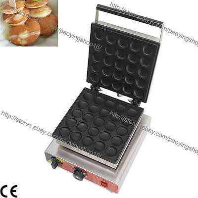 Commercial Nonstick Electric Dutch Poffertjes Mini Pancake Maker Machine Baker