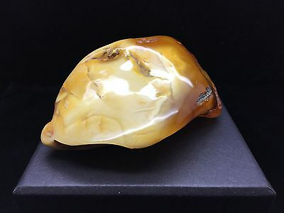 190g Natural Baltic Amber Stone Mat Yellow White Beeswax Colour Bernstein 琥珀色