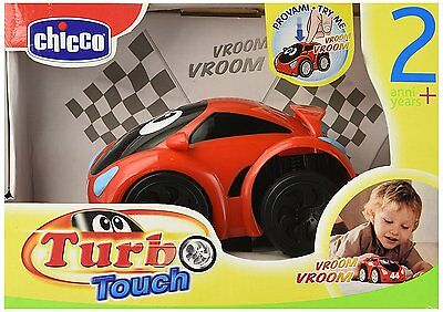 Chicco Turbo Touch Wild Pull N Go Car 11cm Kids Miniature Sports Car Toy New