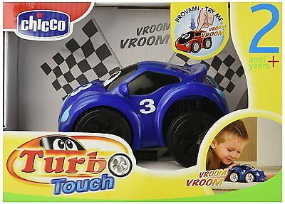 Chicco Turbo Touch Fast Blue Kids Sport Car Entertaining Race Toy NEW