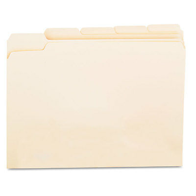 UNIVERSAL OFFICE PRODUCTS File Folders, 1/5 Cut Assorted, One-Ply Top Tab,
