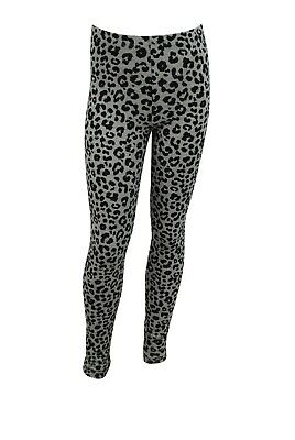 Girls Ex H&M Leggings Cotton STRETCH Animal Print Size Age 8 to 14 Years Kids