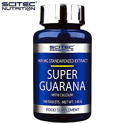 Super Guarana 100 Tablets Pre-Workout Focus Energy Endurance Booster Caffeine