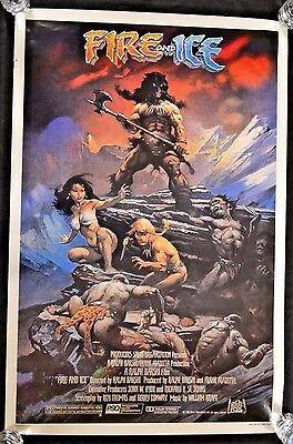 Original 27 x 41 1SH 1983 Fire and Ice Movie Poster B160