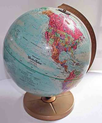 "Vintage Replogle Tolman, USSR World Nation Series Raised Relief 12"" World Globe"