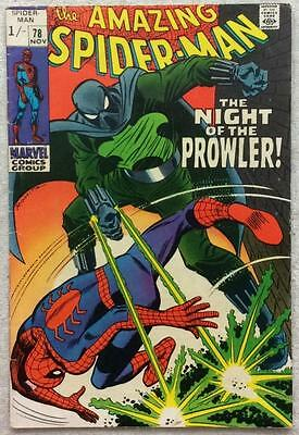 Amazing Spider-Man #78 (1969 Marvel) Silver Age classic. FN+ condition.