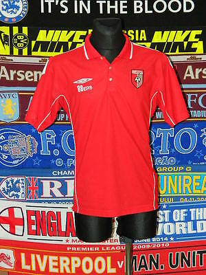 5/5 Derry City adults L polo supporters football shirt jersey trikot