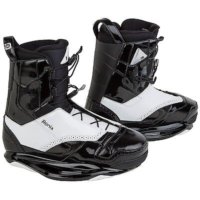 Boxed 2015 Ronix Frank Black Tie Wakeboard Boots Bindings - Excellent Kit UK 7-8