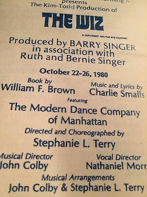 The Wiz Program 1980 Tour Broadway Productions American Shakespeare Theatre