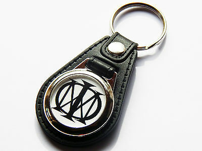 DREAM THEATER Prog Metal Band Premium Leather & Chrome Keyring