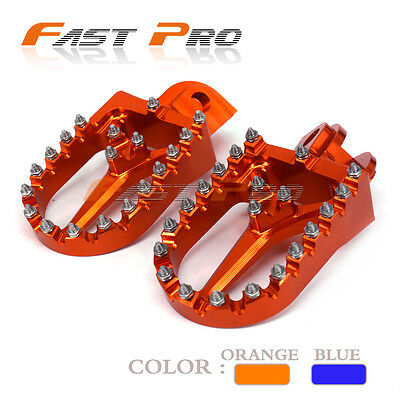 CNC Billet Foot Pegs Rests Footrest Pedals For KTM 85-530 SX XC EXC XCW SXS MXC