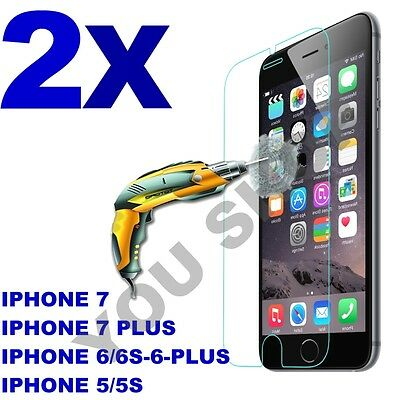 2X Scratch Resist Tempered Glass Screen Protector film for iphone 7 7 plus 6s 6+