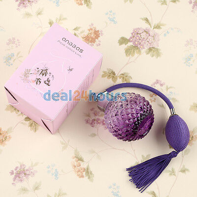Set Vintage Crystal Empty Refillable Perfume Spray Atomiser with Gift Box Funnel