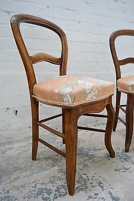 French Balloon back upholstered stand chair / decorative chair / bedroom chair