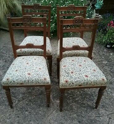 REDUCED! Four Vintage Dining Chairs. Very comfortable sprung seats.