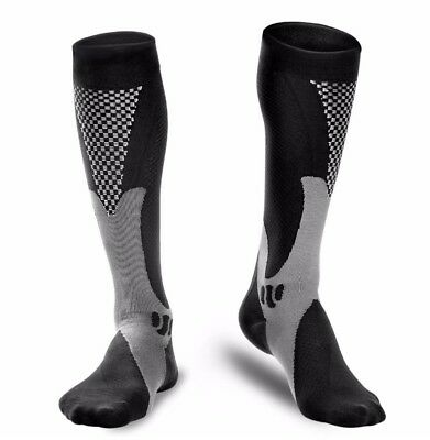 Sports Knee High Compression Socks for Running, Fitness, Crossfit, 15-20mmHg