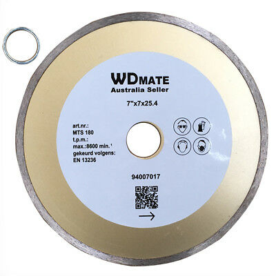 "5x Diamond Cutting Blade 180mm 7"" Wet Saw Disc Wheel 25.4/22.23 mm Tile 94007017"