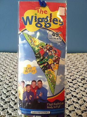 "THE WIGGLES 49"" Flying Delta Kite Toy 2004 Ages 8+ by The Kite Factory *New* HTF"