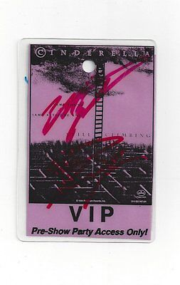Cinderella  Backstage VIP Pass Pre-Show  Autographed RARE