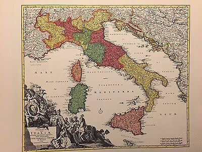 Collection of 14 Antique Map Prints by Famous Mapmaking Artists