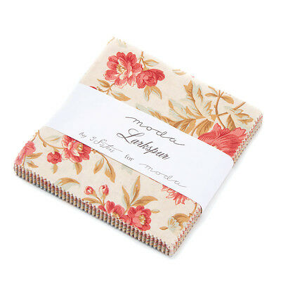 "Moda Charm pack Larkspur by 3 Sisters #44100PP 42 - 5"" cotton fabric squares"