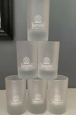 BRAND NEW Set Of 6 Jagermeister Frosted Shot glasses 4 CL