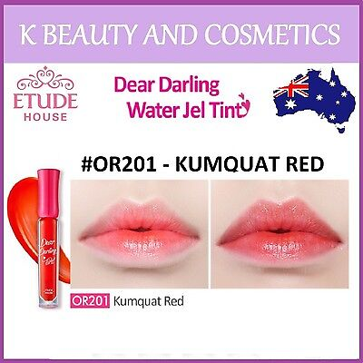[Etude House] Dear Darling Water Gel Tint (#OR201 KUMQUAT RED) *NEW 2018* 4.5g