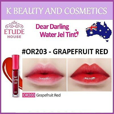 [Etude House] Dear Darling Water Gel Tint (#OR203 GRAPEFRUIT RED) NEW 2016* 4.5g