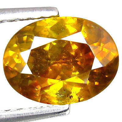 2.075Cts ATTRACTIVE LUSTER YELLOW NATURAL SPHALERITE OVAL LOOSE GEMSTONES