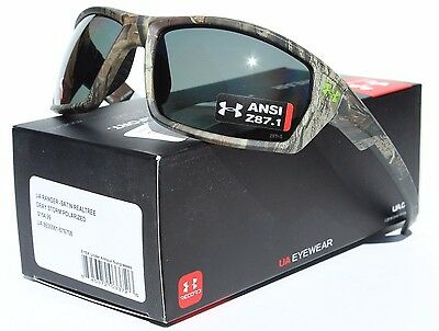 6e6d59258b8 UNDER ARMOUR Ranger POLARIZED Sunglasses Realtree Camo Gray Storm Hunting  NEW