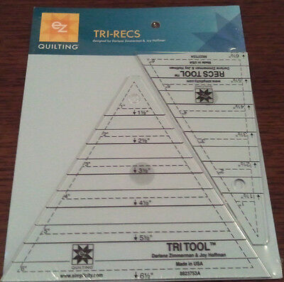 Ez Tri-Recs Triangle Template For Quilting Patchwork Crafting Brand New