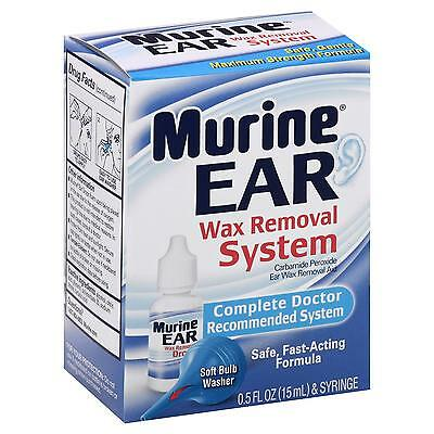 Murine Ear Wax Removal System with Syringe - 0.5 fl oz bottle 11/16