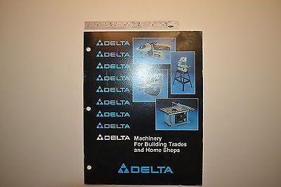 #J91 Vintage  DELTA Machinery for Building Trades and Home Shops Catalog