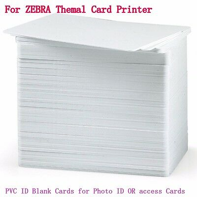 100x Blank White PVC CR80 Plastic Photo ID Credit Card 30Mil fr PVC Card Printer