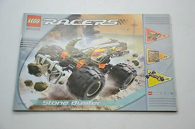 Lego Racers 8458 Stone Buster Instruction Manual Book Booklet Only