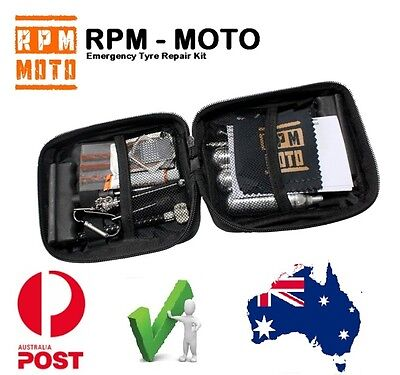 RPM Emergency Tyre Tire Puncture Repair Kit Co2 inflation Quad dirt bike
