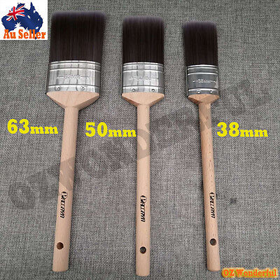 3pc PAINT BRUSHES STRAIGHT PROFESSIONAL PAINTING HOUSE Elite Synthetic Filaments