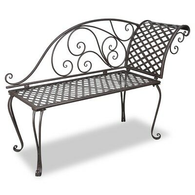 # New Garden Metal Chaise Lounge Bench Steel Chair Outdoor Park Bed Seat Furnitu