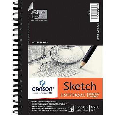 Pro-Art 5-Inch by 8-Inch Canson Universal Sketch Pad 100-Sheet