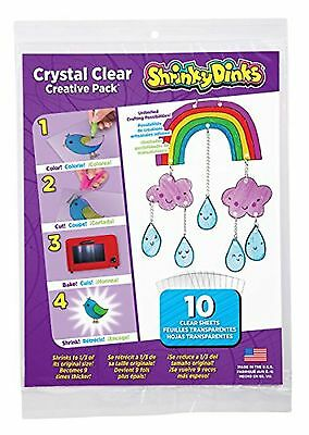 Shrinky Dinks Crystal Clear 10 Sheet Creative Pack