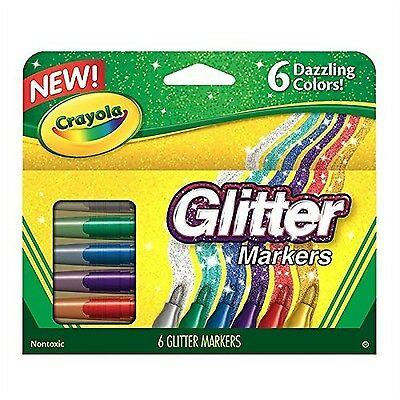 Crayola Canada Glitter Markers 6-Count