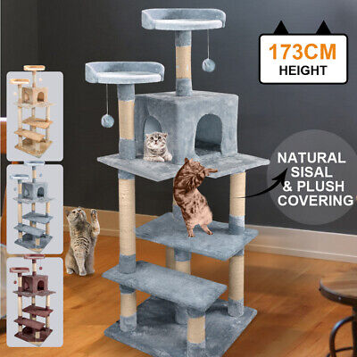 PawZ 1.7M Cat Scratching Post Tree Gym House Condo Furniture Scratcher Tower