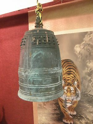 JAPANESE TEMPLE BELL BRONZE BUDDHIST 1700's     check out the VIDEO