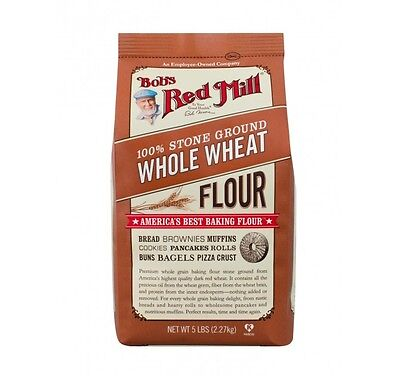 Bob's Red Mill 100% Stone Ground Whole Wheat Flour 5 LB Bag