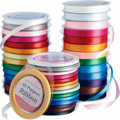 Krafty Savers Poly Satin Ribbon ~ Choose Width and Colour