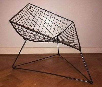 vintage niels gammelgaard Oti wire lounge chair,  ikea 1980's retro 20th century