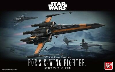 Bandai 210500 1/72 Scale Model Kit Star Wars Poe's X-Wing Fighter Starfighter