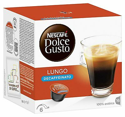 Dolce Gusto Lungo Decaff Coffee (3 Boxes,Total 48 Capsules ) 48 Servings
