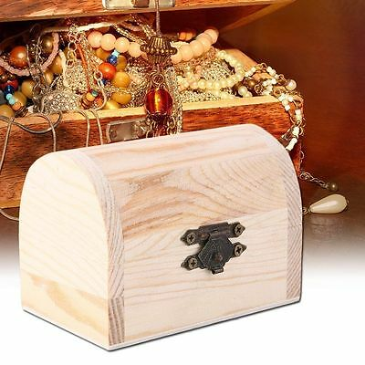 Wooden Ingots Plain Wood Jewelry Box Case Art Decor DIY Wood Crafts Collect~JX